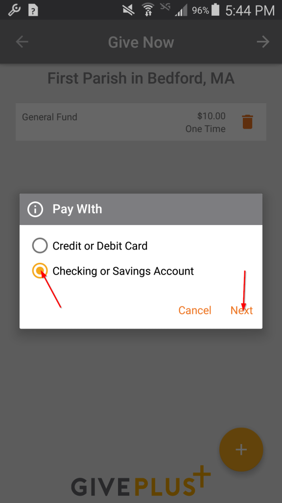 Pay with Bank Account
