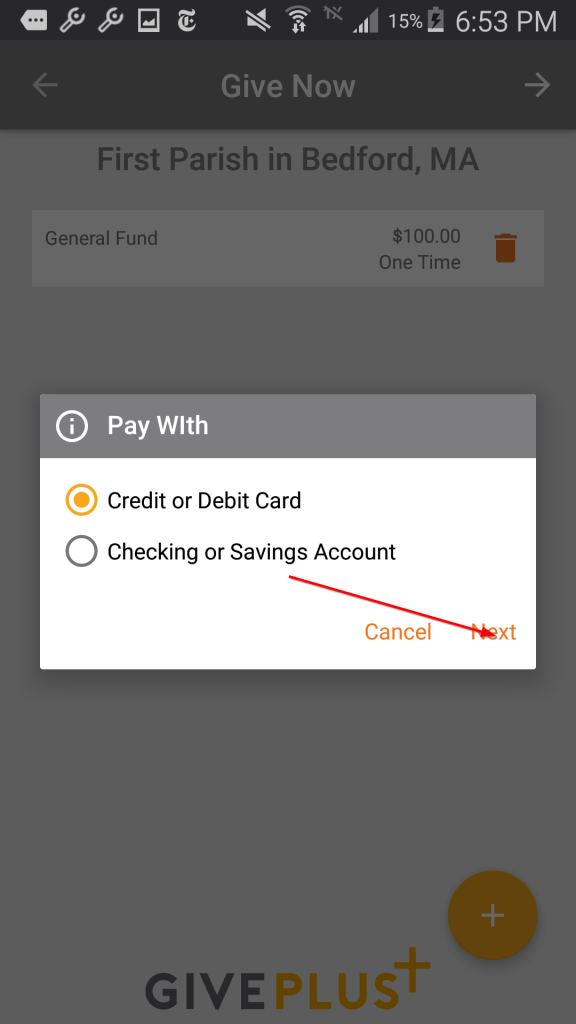 Payment Options Credit Card