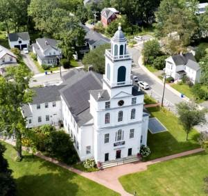 Square thumbnail of Joe Turner Aerial Image of First Parish in Bedford