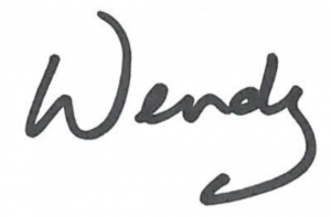 Signature of Wendy Bell, Interim Minister